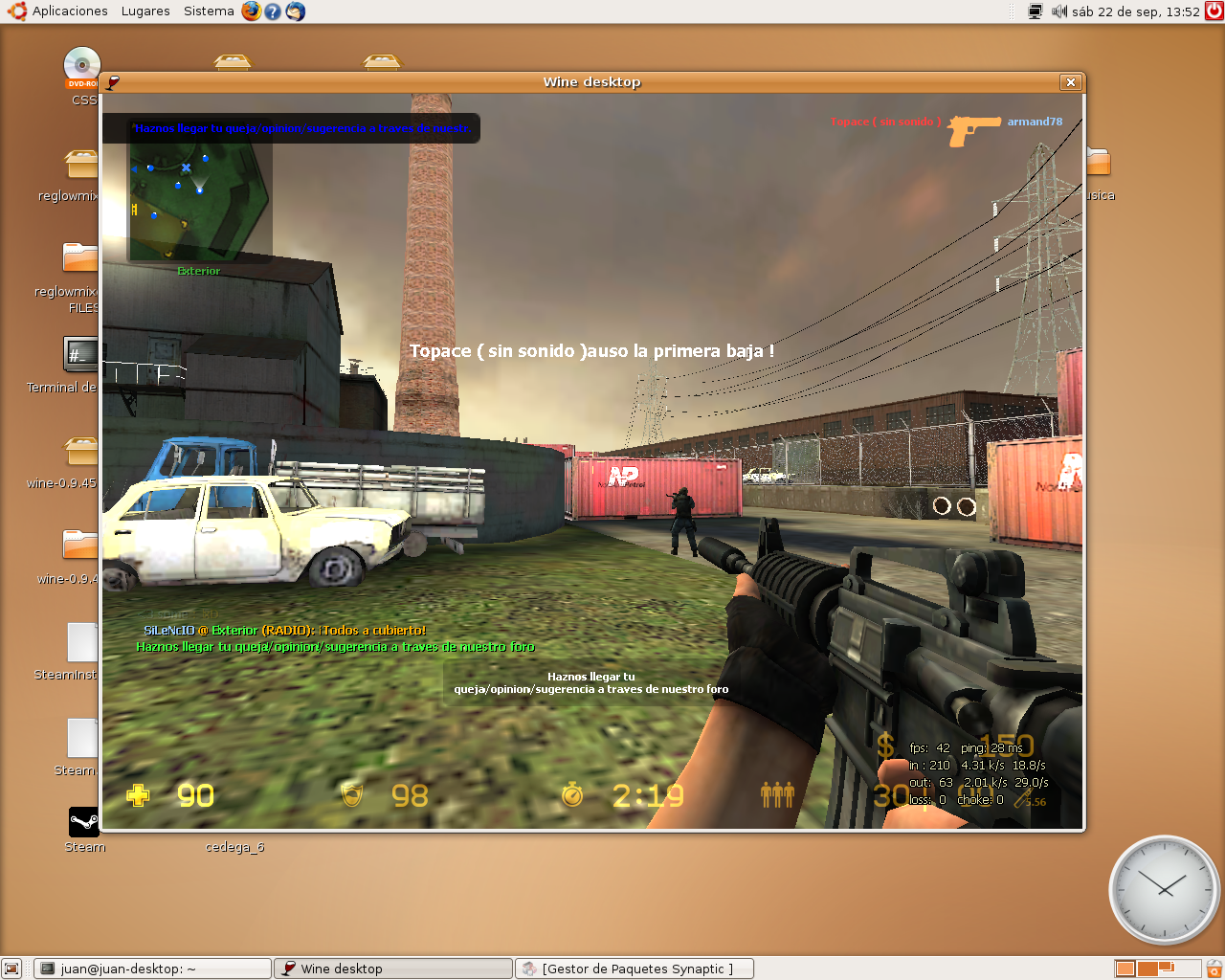 Pantallazo de Counter Strike Source en Linux